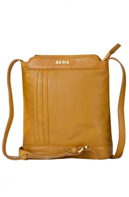 Genuine Leather Yellowish Sling Bag