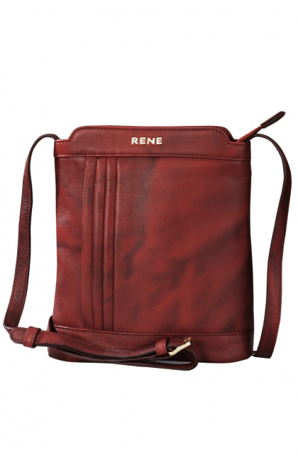 Genuine Leather Wine Sling Bag