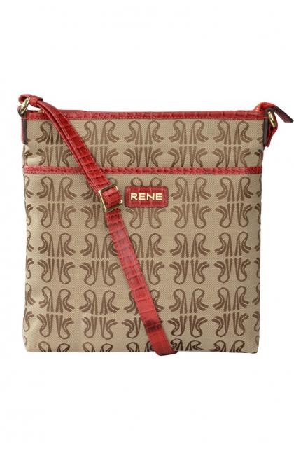 Signature Canvas & Genuine Leather Rubino Sling Bag