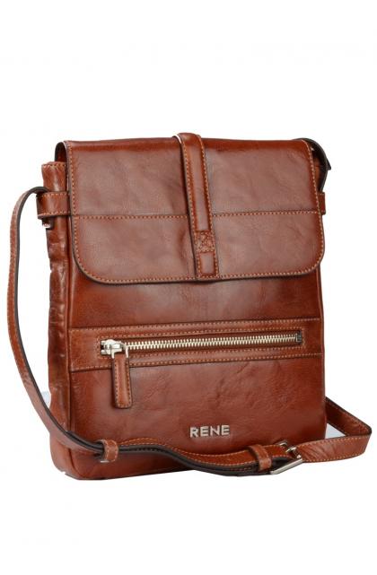 Genuine Leather Tan Sling Bag