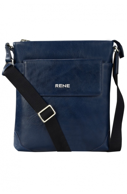 Genuine Leather Navy Sling Bag