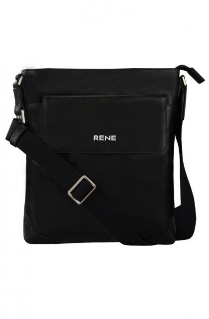 Genuine Leather Black Sling Bag