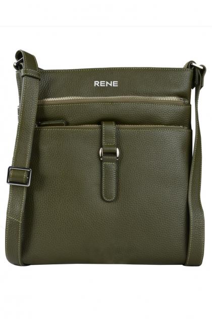 Genuine Leather Olive Sling Bag