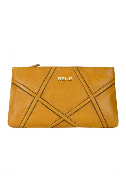 Genuine Leather Yellowish Clutch Bag