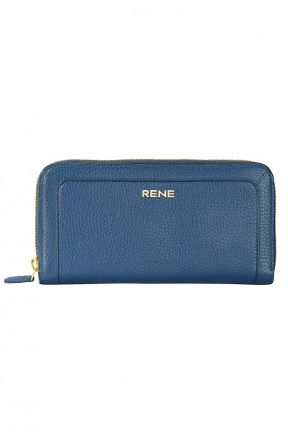 Genuine Leather Navy Ladies Wallet