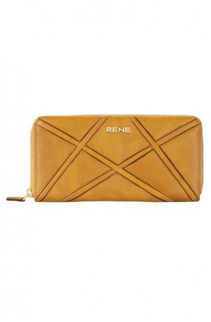 Genuine Leather Yellowish Ladies Wallet