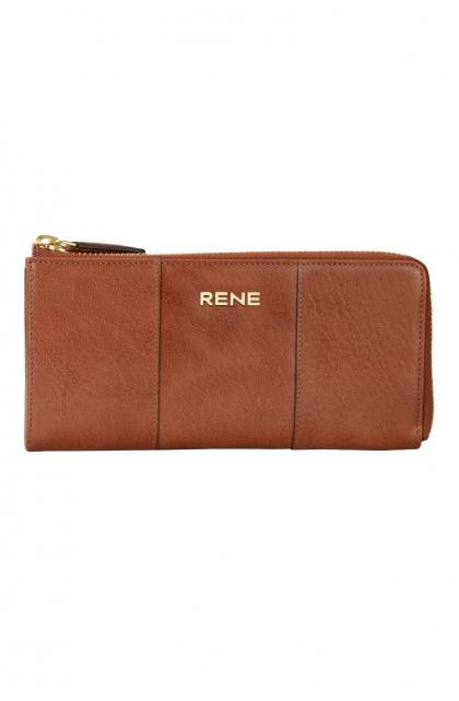 Genuine Leather Tan Ladies Wallet