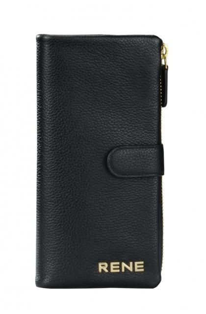 Genuine Leather Black Ladies Wallet