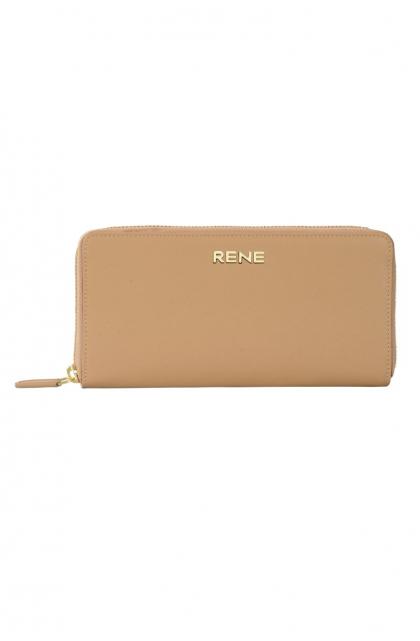 Genuine Leather Camel Ladies Wallet