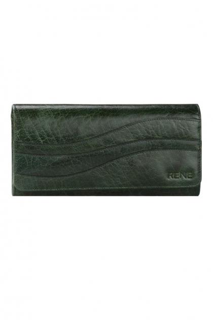 Genuine Leather Bottle Green Ladies Wallet