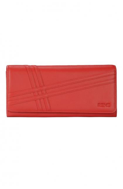 Genuine Leather Red Ladies Wallet
