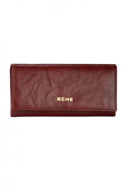 Genuine Leather Wine Ladies Wallet