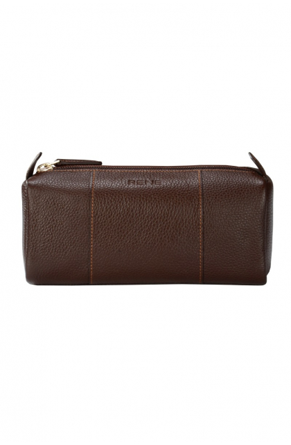 Genuine Leather Brown Pouch