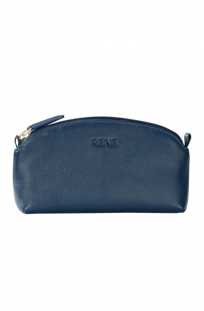 Genuine Leather Navy Pouch