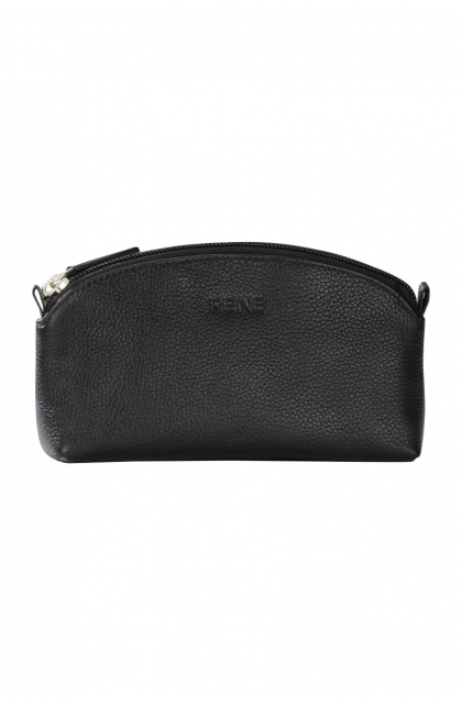 Genuine Leather Black Pouch