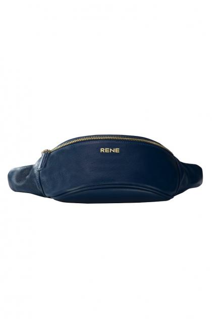 Genuine Leather Navy Waist Bag