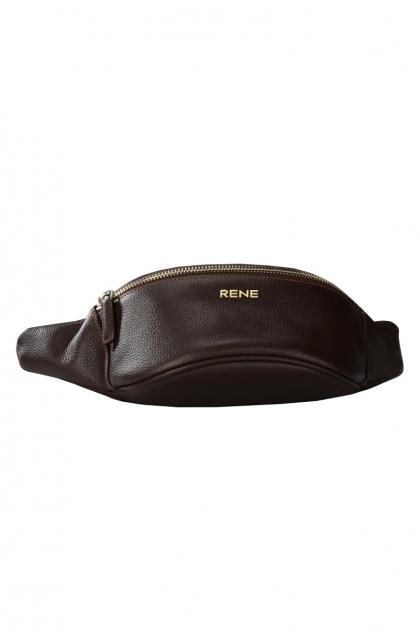 Genuine Leather Brown Waist Bag
