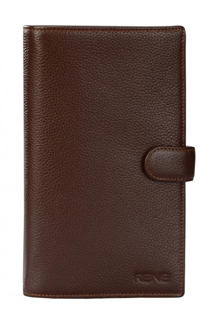 Genuine Leather Brown Travel Wallet