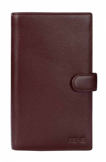 Genuine Leather Maroon Travel Wallet