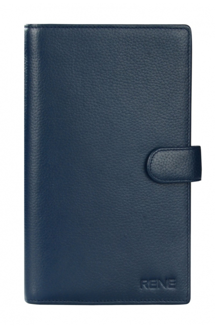 Genuine Leather Navy Travel Wallet