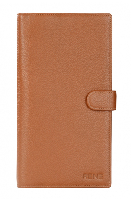 Genuine Leather Tan Travel Wallet