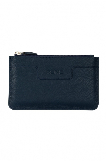 Genuine Leather Navy Key Case