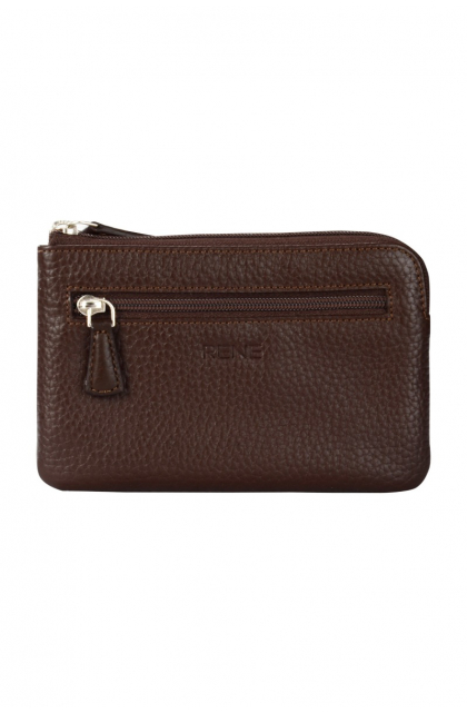 Genuine Leather Brown Key Case