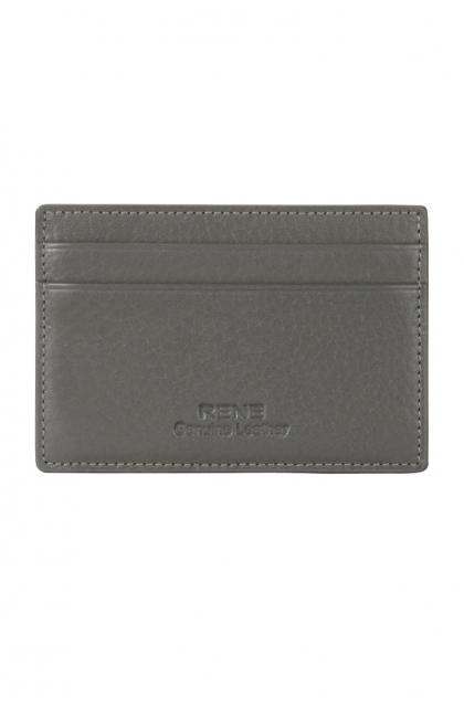 Genuine Leather Grey Card Holder