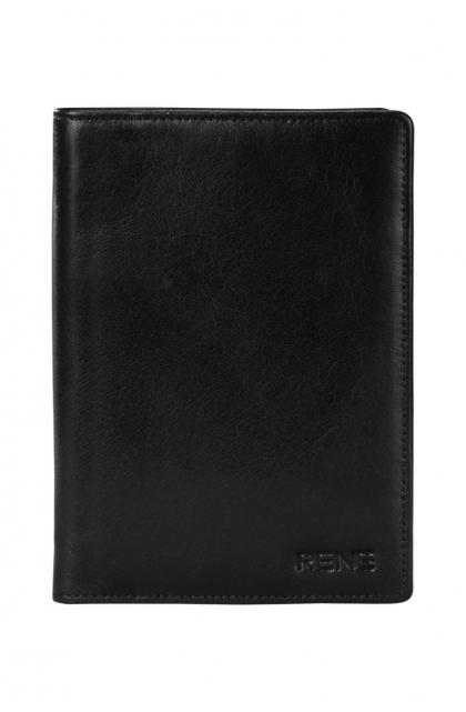 Genuine Leather Black Passport Holder
