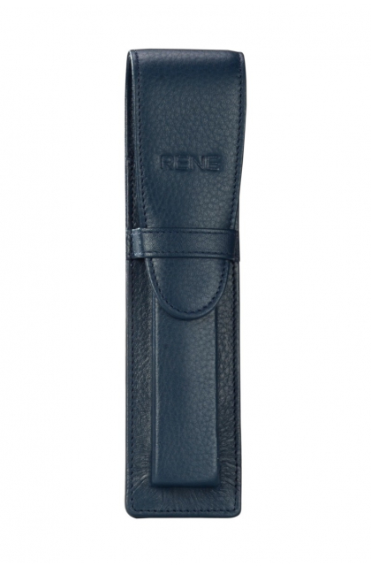 Genuine Leather Navy Pen Case
