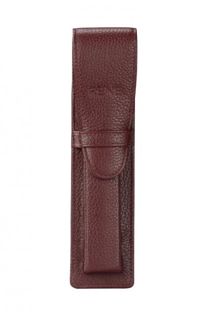Genuine Leather Maroon Pen Case