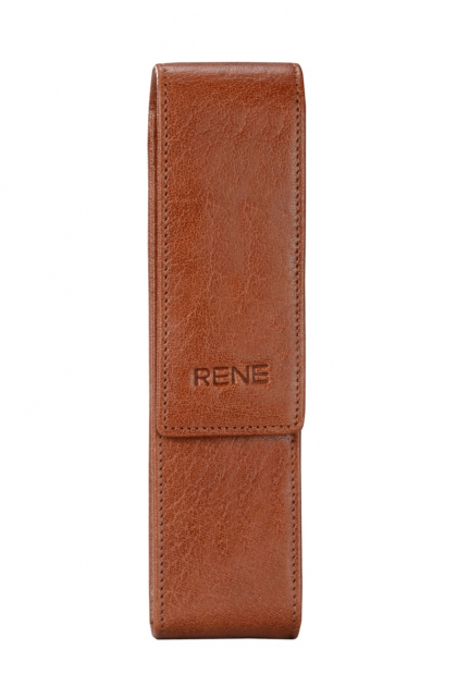 Genuine Leather Tan Pen Case