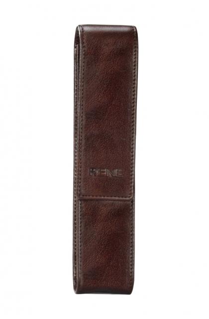 Genuine Leather Brown Pen Case