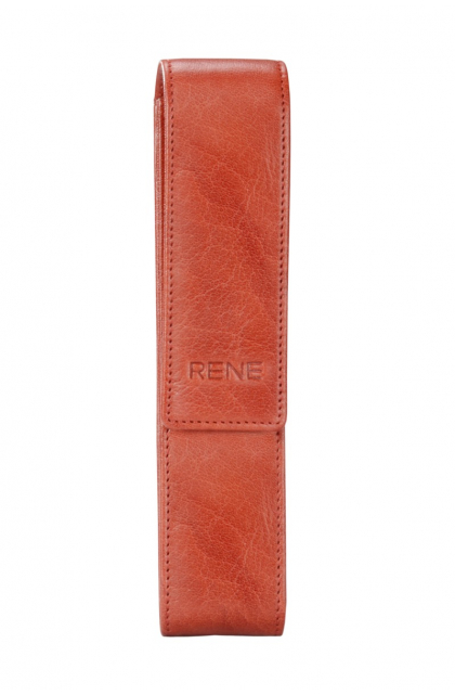 Genuine Leather Red Pen Case