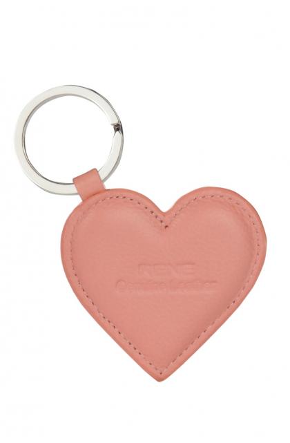 Genuine Leather Peach Key Ring