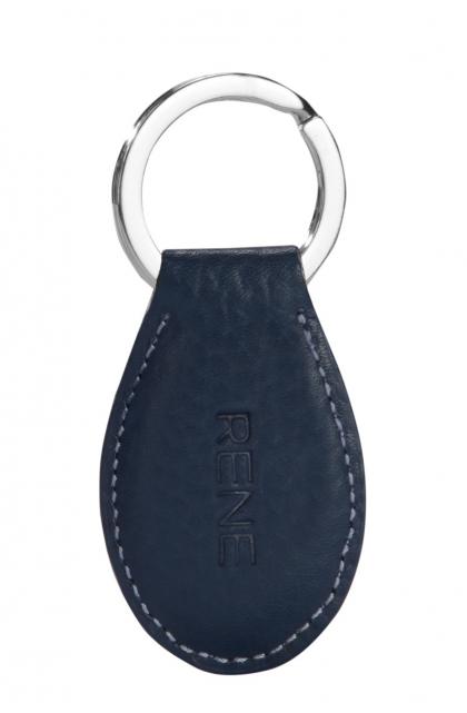 Genuine Leather Navy Key Ring