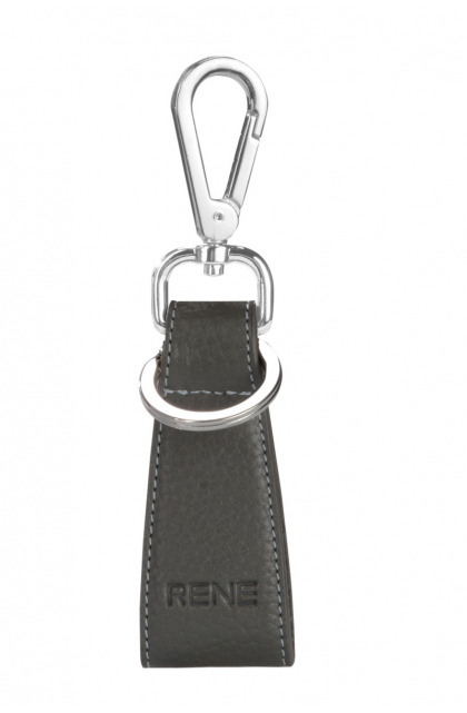 Genuine Leather Grey Key Ring