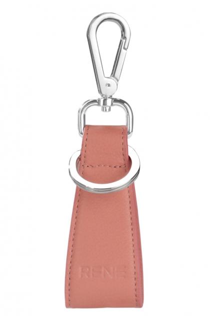 Genuine Leather Pink Key Ring
