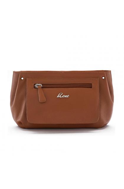 Rene Tan Genuine Leather Women's Clutch